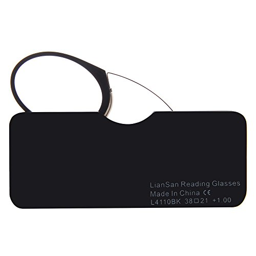 (レンサン) LianSan老眼鏡 携帯用ルーペ アイカード 鼻に挟むカード型レンズ 超薄い ユニセックス レディース メンズ 女性 男性 おしゃれな コンパクト ポケット リーディンググラス シニアグラス 老眼鏡 L4110(+2.50, ブラック)