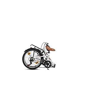 "Moma Bikes Bicicleta Plegable Urbana SHIMANO FIRST CLASS 20"" Alu, 6V. Sillin Confort, Blanco"