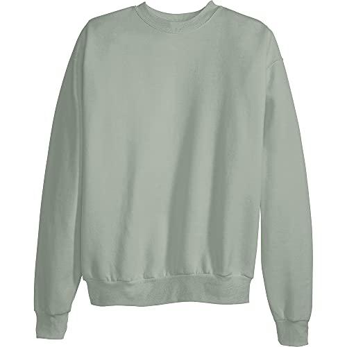 Hanes Men's EcoSmart Sweatshirt, stonewashed green, Large