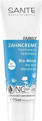 SANTE Naturkosmetik Zahncreme Bio-Minze mit Fluorid, 75ml