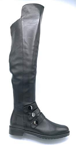Adele Dezotti S 0903 knielaarzen ritssluiting accessoires hak 3 cm - schoen 38 kleur zwart