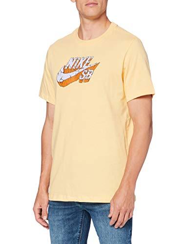 NIKE SB Logo Concrete – Camiseta para Hombre, Color Rojo