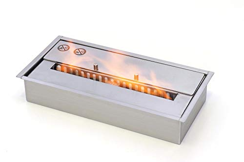 Edelstahl Brennkammer - 1,2 L - inkl. Keramikschwamm - DECKEL für Ethanol