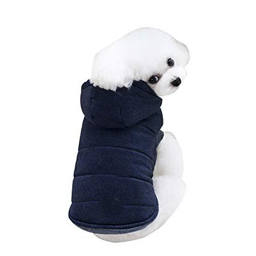 ODOKEI Wintermantel für Kleine Hunde Fleece Warm Hundepullover Sweater Welpen Winterjacke Chihuahua Katze Kleidung Haustier Jungen Mädchen Hundebekleidung Hundemantel Winter