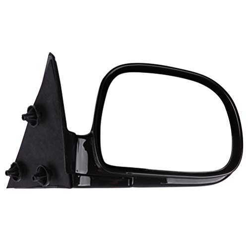 SCITOO Side Mirror Manual Foldable Black Side View Mirrors Fit 94-98 Chevy Blazer S10 94-98 GMC Jimmy S-15 Sonoma 96-98 Isuzu Hombre 96-98 Olds Bravada Passenger Side Car Mirror