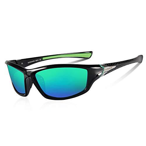 Queshark Gafas de Sol Deportivas Polarizadas Para Hombre Perfectas Para Esquiar Golf...