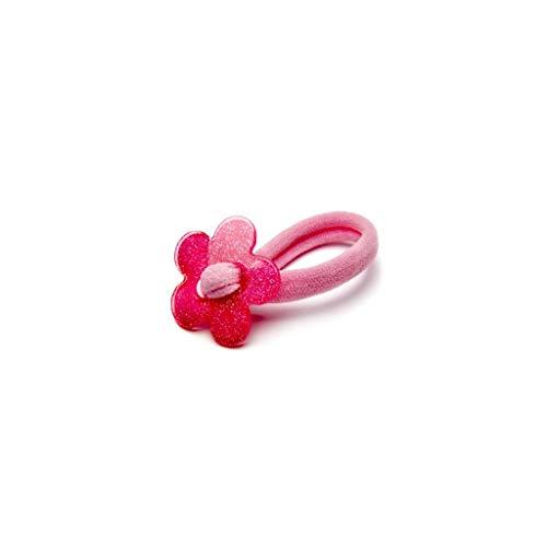 Inca - Gomas pelo anudadas flor purpurina blíster 2 uds