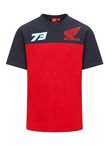 HRC T-Shirt Ufficiale Alex Marquez 73 Honda Racing MotoGP - Rosso - M