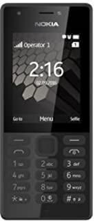 Nokia 216 Dual Sim, 16MB Ram, microSD up to 32 GB, Flashlight, Black (RM-1187)