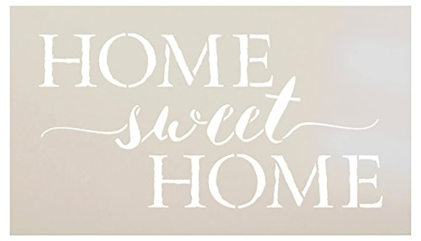 Home Sweet Home Word Stencil by StudioR12 | Charming Rustic - Reusable Mylar Template | Painting, Chalk, Mixed Media | DIY Home Decor - STCL1749 | Select Size | (14
