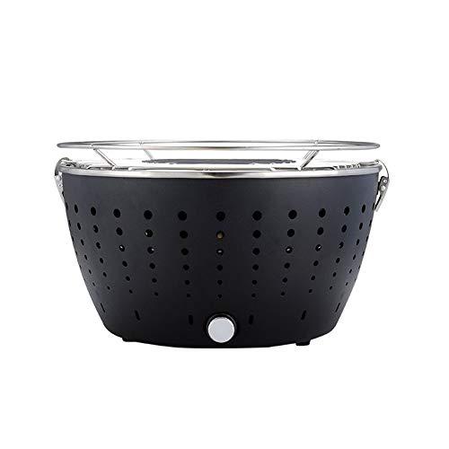 Parrilla de carbón portátil al aire libre PARRILLA de mesa Parrilla de carbón sin humo barbacoa con bolsa de transporte para ahumador de camping