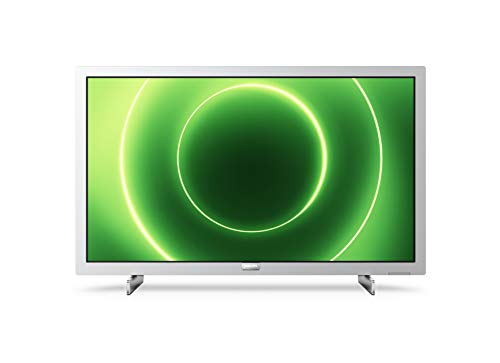 Philips 24PFS6855/12 Televisor 24 Pulgadas LED,Full HD, HDR 10, Pixel Plus HD, Smart TV, DTS-HD, HDMI,Modelo 2020/2021, Plateado Claro, 60 cm