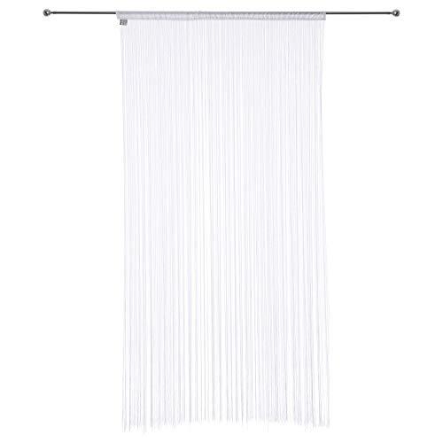 Tenda a fili (larghezza 120 cm, colore: bianco