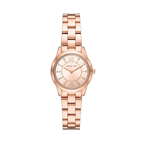 Michael Kors Damen Analog Quarz Uhr mit Edelstahl Armband MK6591