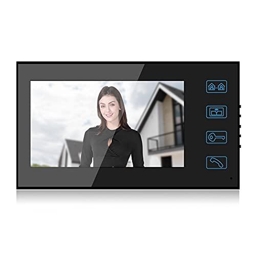 Semiter Regalo de Verano Control de interfono, videoportero con Cable, Sistema de vigilancia Nocturna para el Sistema de Seguridad del(European regulations)