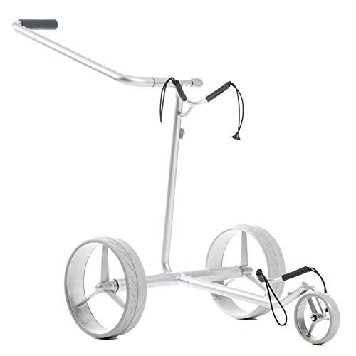 JuStar Silver Trolley, Titansilber, Elektro Golftrolley