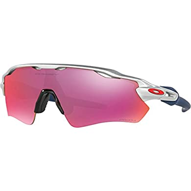 314e54acf2b Oakley Mens Radar EV Path Prizm Field MLB Collection Silver Red Dark Blue  Sunglasses