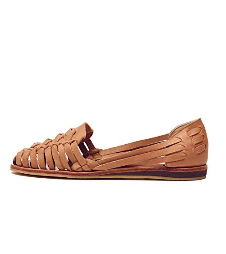Nisolo Traditional Huaraches For Women - Designer Handmade Woven Leather Sandals with Rubber Sole