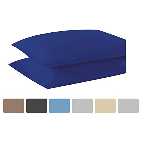 KOHSAR 4FT Small Double Fitted Sheet Poly Cotton Easy Care Royal Blue 4FT Small Double Fitted Bed Sheets, Long Staple Cotton Small Double Bed Fitted Sheet