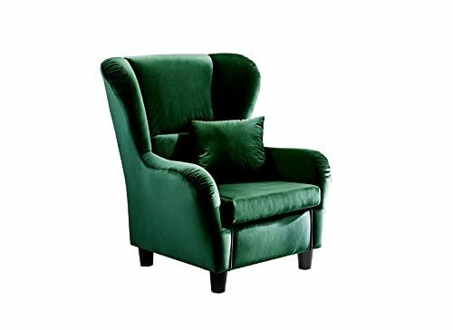 ZeoTioo Ohrensessel Ohrensessel Wohnzimmersessel Ohrenbackensessel Fernsehsessel Sessel Grün ohrensessel esszimmerstühle esstisch stühle