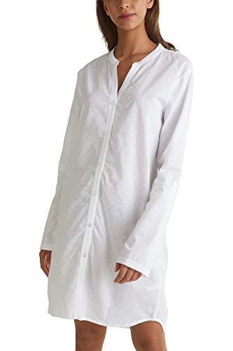 ESPRIT Tupfen-Nachthemd, 100% Baumwolle