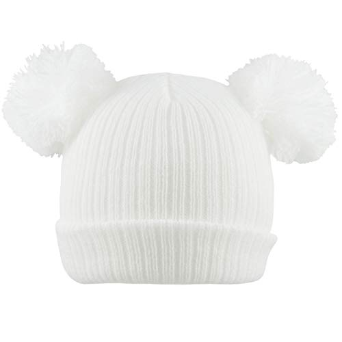 Pesci Baby Hats Beanie Cap Warm Winter Knitted Plain Ribbed Wooly Hat Girls Boys Unisex Newborn to 1 Year