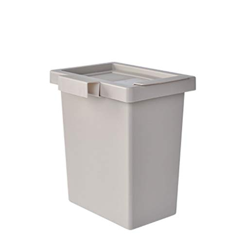 liangzishop Cubo de Basura Gabinete de Cocina Puerta Colgando Bote de Basura Material de PP Baño Sala de Estar Cocina Oficina Bote de Basura Papeleras (Color : Gray)