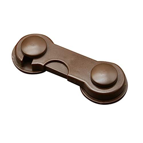 NRRN Cerraduras de gabinete de seguridad para niños,Pestillos adhesivos para bebés pruebas,Cerradura de nevera de cajón de puerta de prueba de mascotas