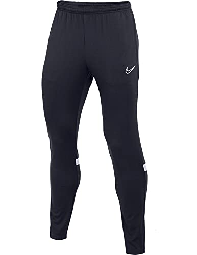 Nike Dri-Fit Academy, Pantaloni della Tuta Uomo, Ossidiana/Bianco/Bianco/Bianco, L