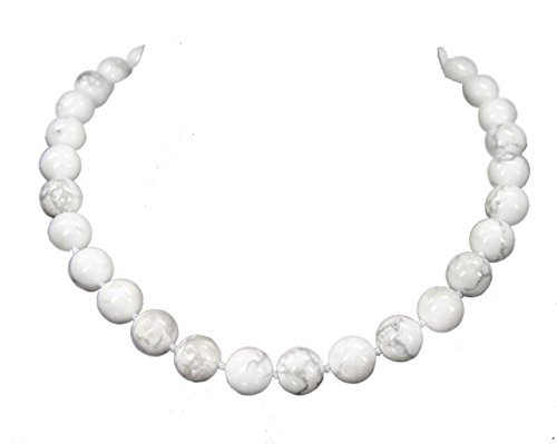Beautiful Magnesite in Spherical Shape Gemstone Necklace from D-12 mm