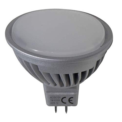 Pack 5x MR16 12-24v 7w. 120 grados. Regulable. Color Blanco Calido (3000K). 600 lumenes. Para uso con transformador 12/24v (NO incluido).