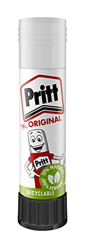 Pritt Glue Stick, Safe & Child-Friendly Craft Glue for Arts & Crafts Activities, Strong-Hold adhesive for School & Office Supplies, 1x11g Pritt Stick