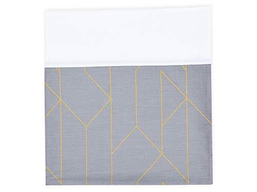 KraftKids Stilltuch goldene Linien auf Grau, großer Still-Schal für Mütter als Sichtschutz, handgefertigt, 100% aus Baumwolle, Umfang: 160 cm, Breite: 42 cm