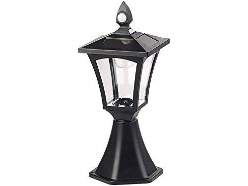 Royal Gardineer Gartenlampen: Solar-LED-Standleuchte, PIR-Sensor, Dämmerungssensor, 100 lm, IP44 (Sockelleuchte)