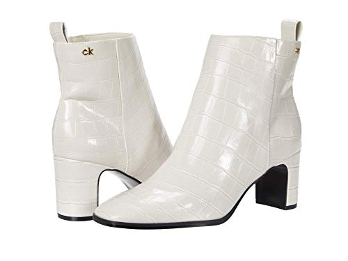 Calvin Klein Women's DENI Ankle Boot, Soft White, 2 UK