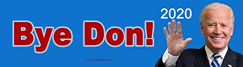 Bye Don! 2020 Funny Joe Biden Bumper Sticker or Magnetic Bumper Sticker (Bumper Sticker)