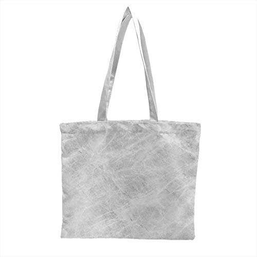 Washable tote,Marble Abstract Soft Pastel Toned Onyx Stone Background with Grunge Effects Image,Tote Bags - Reusable Pale Grey White