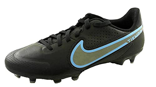 Nike Herren Legend 9 Academy Fg/Mg Fußballschuh, Black/Black-Iron Grey, 45 EU