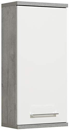 Pelipal 370 Fresh Line Grey - Armadietto da Parete in Legno, Effetto Cemento, 20 x 35 x 75 cm