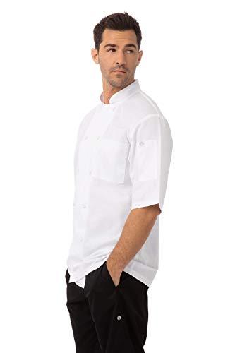 Chef Works JLCV Montreal Essential Cool Vent - Abrigo para cocinero, color blanco, mediano