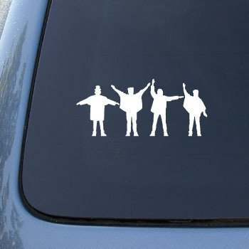 The Beatles Silhouettes - Car, Truck, Notebook, Vinyl Decal Sticker #2470 | Vinyl Color: White