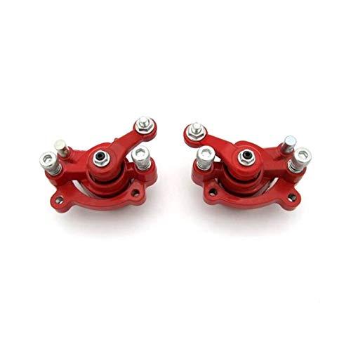 RJJX 1pair Motorrad Front- und Heckscheibe Bremssattel Fit für Motovox MBX10 MBX11 Mini Bike Monster Moto MM-B80 (Color : RED)