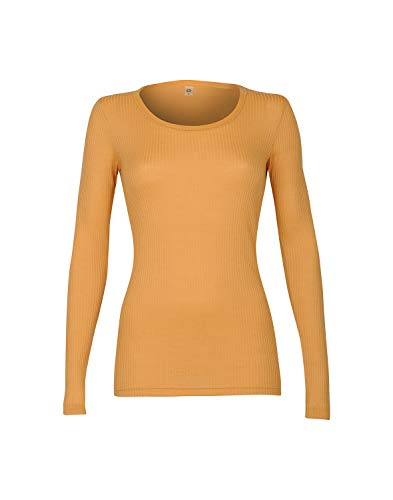 Dilling Rippshirt für Damen aus 100% Bio-Merinowolle Gelb 38