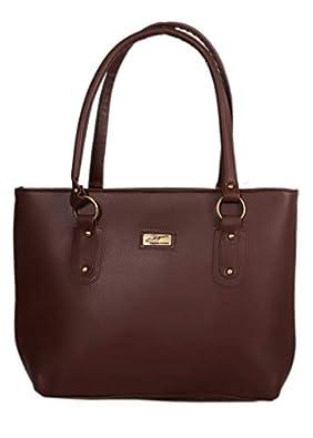 DN DEALS Women's Handbag (Dark Brown)