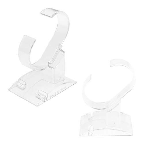 Hemobllo Supporto per Espositore da 2 Pezzi per Orologio Singolo in Plastica Trasparente Tipo C Supporto per Smartwatch per Braccialetto