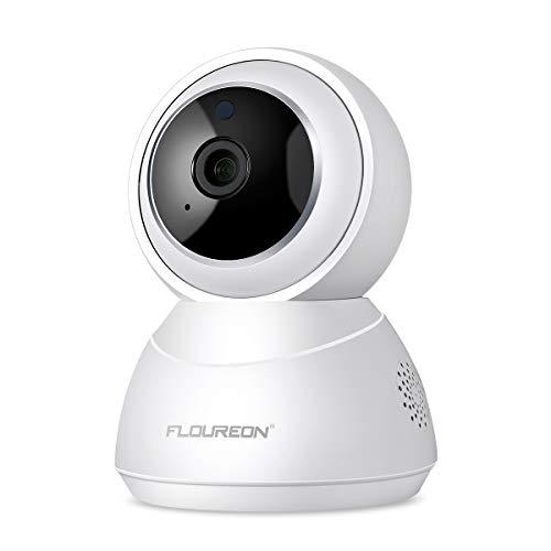 FLOUREON 1080P 2,0 MP HD IP Kamera WLAN Überwachungskamera Netzwerk kamera Baby Monitor, Pan/Tilt, H.264 CCTV Sicherheitskamera mit Mikrofon, Bewegungserkennung, Nachtsicht, Unterstützt Mikro SD Karte