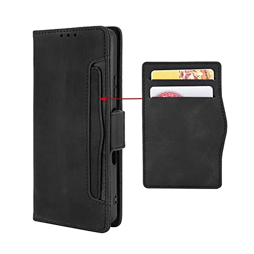 GOKEN Funda para ASUS Zenfone 8 Flip Funda, Leather Folio Carcasa con Billetera, Magnética PU Cuero/TPU Silicona FILP Case Cover con Soporte/Tapa Tarjetas (Negro)