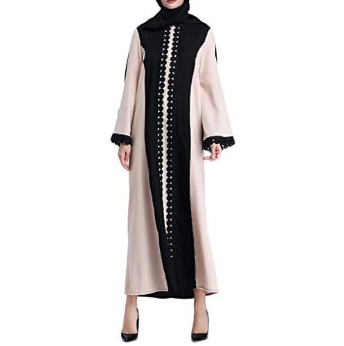 Saoye Fashion Damen Muslim Ramadan Islamic Dress Scarf Dress Muslimischer Moslemische Frauen Fiesta Kleidung Islamische Kleidungs Spitze Die Langen Mantel Mittlere Osten Lange Robe Spleißt