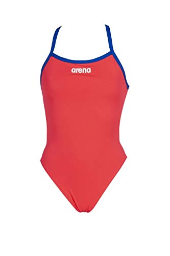 arena Solid Light Tech High, Femme, Rouge (Fluo Red-Neon Blue), 40