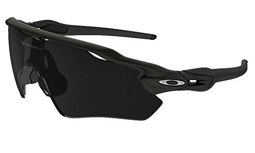 Oakley Men's Radar Shield Sunglasses (Matte Black Frame Extended View Solid Black...